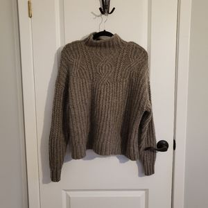 AMERICAN EAGLE Grey Wool Oversized Comfy Sweater